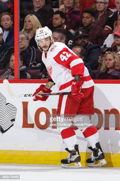 Martin Frk of the Detroit Red Wings skates against the Ottawa Senators at Canadian Tire Centre on October 7 2017 in Ottawa Ontario Canada