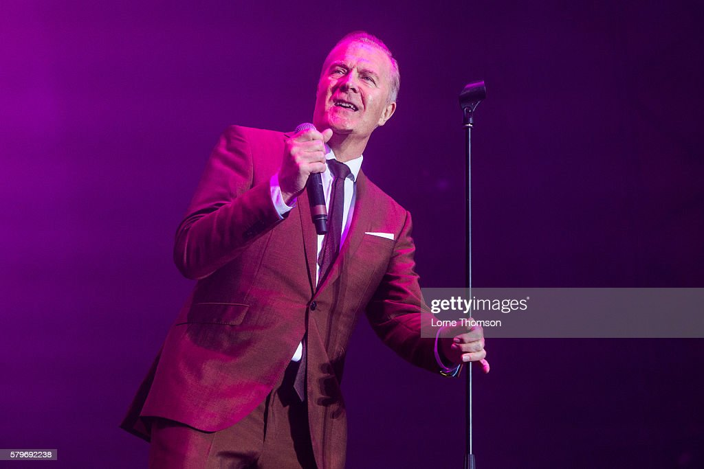 Martin Fry of ABC performs on day three of Rewind Scotland at Scone Palace on July 24 2016 in Perth Scotland