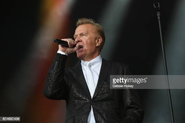 Martin Fry of ABC performs on stage during Punchestown Music Festival at Punchestown Racecourse on July 30 2017 in Naas Ireland