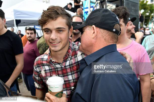 Martin Garrix and president chief content officer SiriusXM Scott Greenstein attend the SiriusXM Music Lounge at 1 Hotel South Beach on March 23 2017...