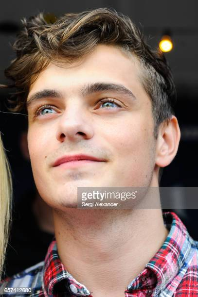 Martin Garrix attends the event honoring Steve Aoki with a plaque for his single 'Just Hold On' at 1 Hotel Homes South Beach on March 23 2017 in...