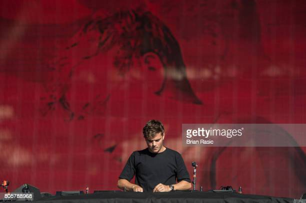 Martin Garrix performs at Hyde Park on July 2 2017 in London England