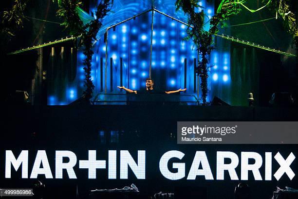 Martin Garrix performs during EDC Electric Daisy Carnival at Autodromo de Interlagos on December 04 2015 in Sao Paulo Brazil