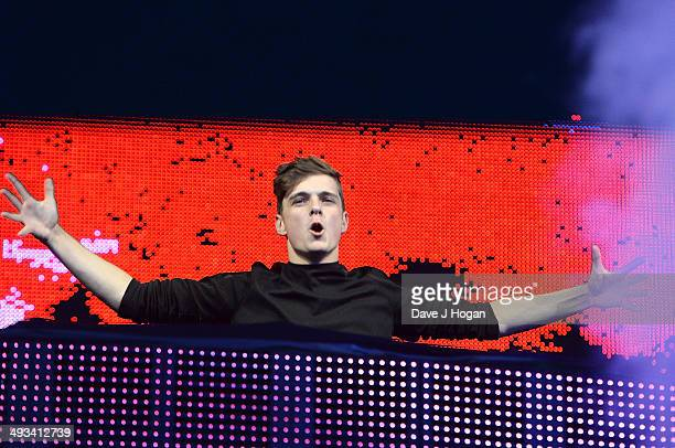 Martin Garrix performs live at Radio 1's Big Weekend in George Square on May 23 2014 in Glasgow Scotland