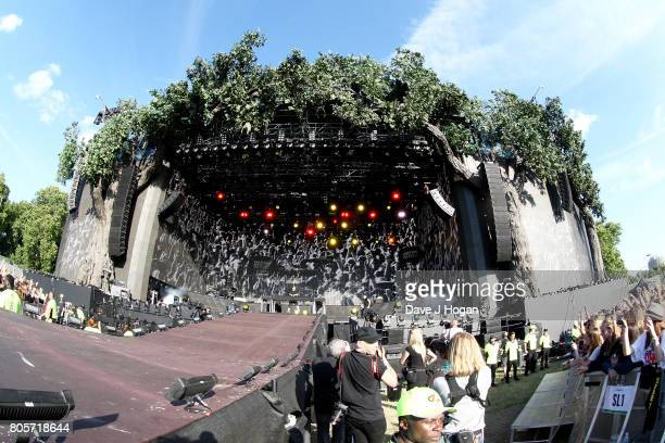 Martin Garrix performs on stage at the Barclaycard Presents British Summer Time Festival in Hyde Park on July 2 2017 in London England