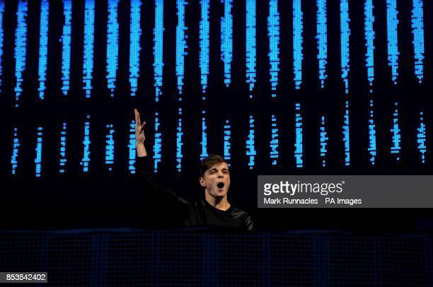 Martin Garrix performs on stage during Radio 1's Big Weekend at Glasgow Green Glasgow