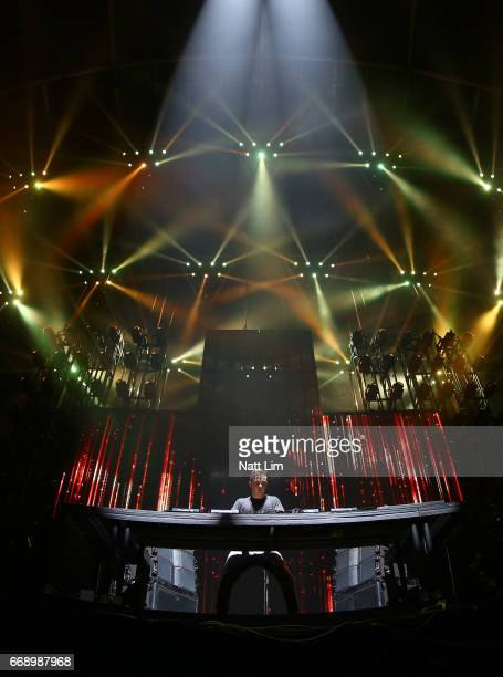 Martin Garrix performs on the Sahara Stage during day 2 of the Coachella Valley Music And Arts Festival at the Empire Polo Club on April 14 2017 in...