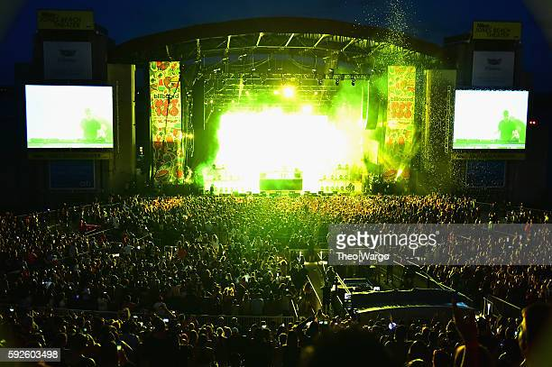 Martin Garrix performs onstage during the 2016 Billboard Hot 100 Festival Day 1 at Nikon at Jones Beach Theater on August 20 2016 in Wantagh New York