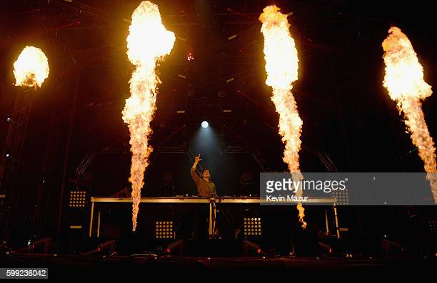 Martin Garrix performs onstage during the 2016 Budweiser Made in America Festival at Benjamin Franklin Parkway on September 4 2016 in Philadelphia...