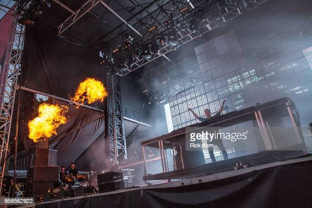 Martin Garrix performs onstage during weekend one day one of Austin City Limits Music Festival at Zilker Park on October 6 2017 in Austin Texas