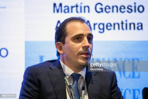 Martin Genesio president of AES Argentina Generacion SA speaks during the LatinFinance Argentina Financial Summit in Buenos Aires Argentina on...
