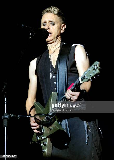 Martin Gore of Depeche Mode performs live on stage at Manchester Arena on November 17 2017 in Manchester England