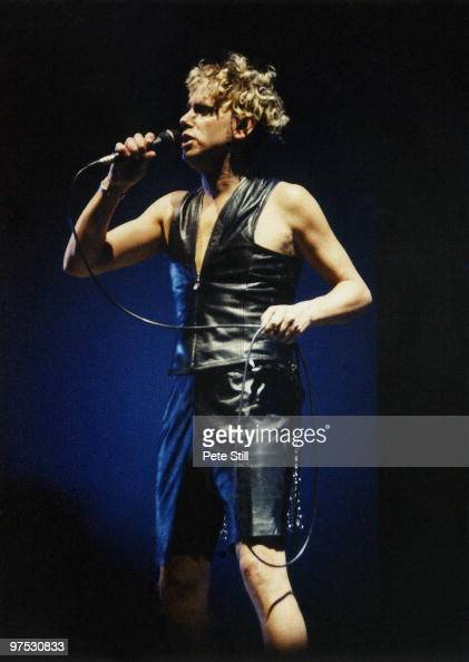 Martin Gore of Depeche Mode performs on stage at Wembley Arena on December 20th 1993 in London England