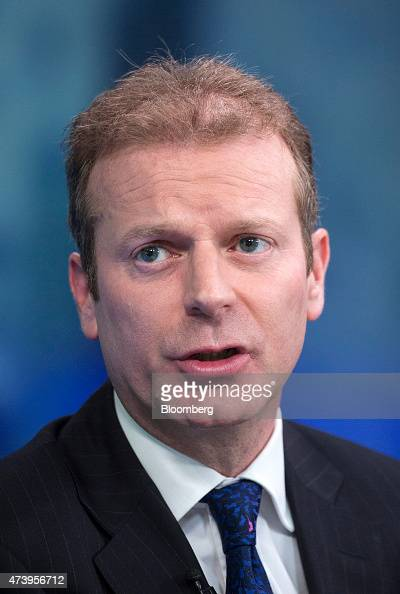 Martin Greenslade chief financial officer at Land Securities Group Plc speaks during a Bloomberg Television interview in London UK on Tuesday May 19...
