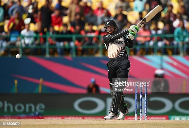 Martin Guptil of New Zealand bats during the ICC World Twenty20 India 2016 Super 10s Group 2 match between Australia and New Zealand at HPCA Stadium...