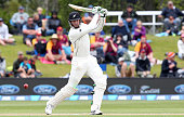 Martin Guptill of New Zealands hits the ball through point during day three of the First Test match between New Zealand and Sri Lanka at University...