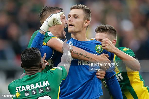 Martin Hansen of ADO Den Haag during the Dutch Eredivisie match between ADO Den Haag and PSV Eindhoven at Kyocera stadium on August 11 2015 in The...