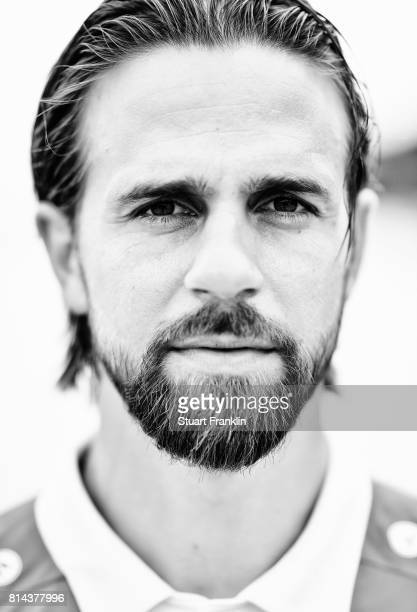Martin Harnik of Hannover 96 poses during the team presentation at on July 14 2017 in Hanover Germany