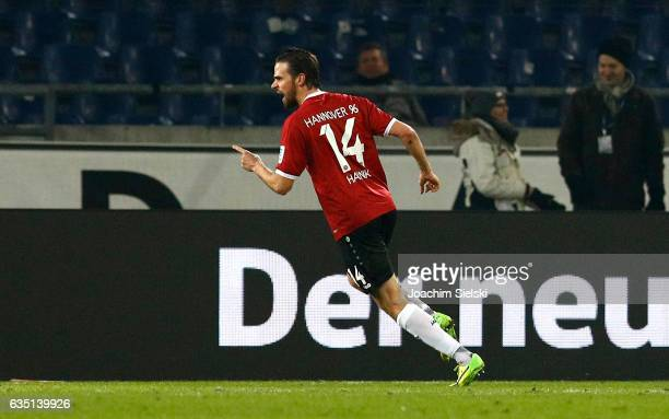 Martin Harnik of Hannover celebration his Goal 11 during the Second Bundesliga match between Hannover 96 and VfL Bochum 1848 at HDIArena on February...