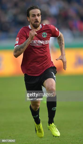 Martin Harnik of Hannover in action during the Second Bundesliga match between Hannover 96 and 1 FC Nuernberg at HDIArena on April 4 2017 in Hanover...
