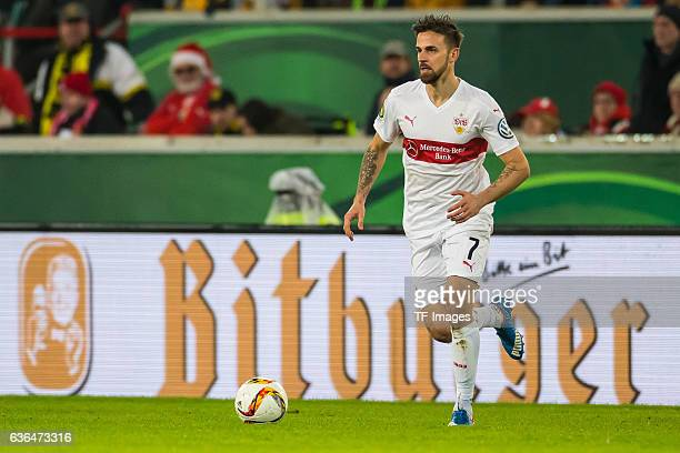 Martin Harnik of VfB Stuttgart in action during the DFB Pokal soccer match between VfB Stuttgart and BV Borussia Dortmund at MercedesBenz Arena on...