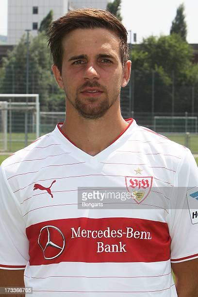 Martin Harnik poses during the VfB Stuttgart team presentation on July 10 2013 in Stuttgart Germany