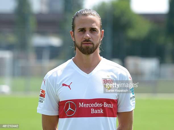 Martin Harnik poses during the VfB Stuttgart team presentation on July 17 2015 in Stuttgart Germany