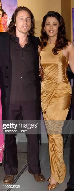 Martin Henderson and Aishwarya Rai during Bride Prejudice New York City Premiere at United Artists Union Square in New York City New York United...
