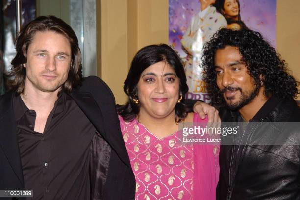 Martin Henderson Gurinder Chadha Naveen Andrews during Bride Prejudice New York City Premiere at United Artists Union Square in New York City New...