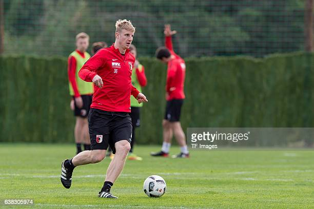 Martin Hinteregger of FC Augsburg in action during the seven day of the training camp in Marbella on January 10 2017 in Marbella Spain Photo by...