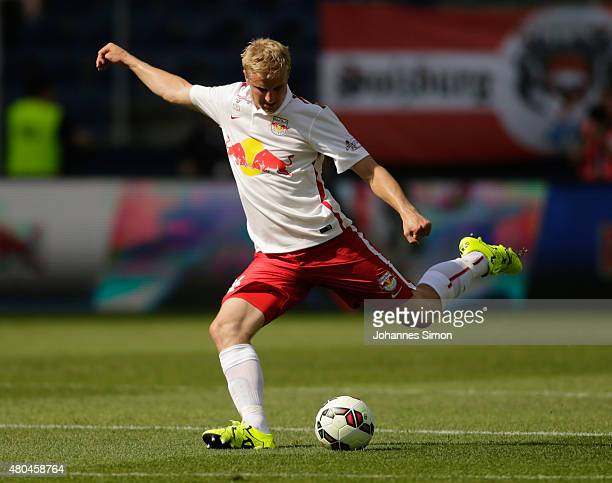 Martin Hinteregger of Salzburg in action during the preseason semi final 1 match between FC Red Bull Salzburg and SV Werder Bremen as part of the...
