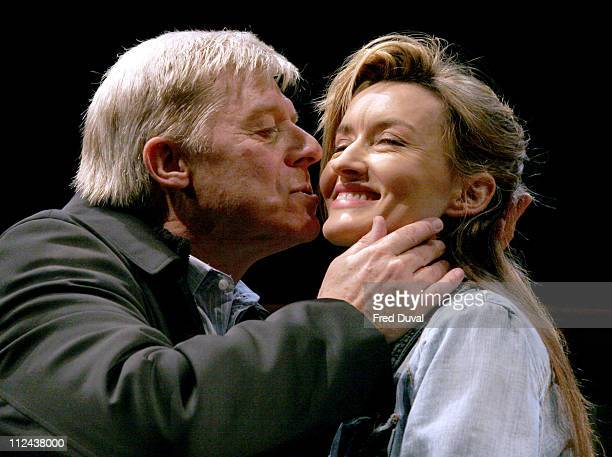 Martin Jarvis and Natascha McElhone during 'Honour' at Wyndham's Theatre Photocall at Wyndham's Theatre in London Great Britain