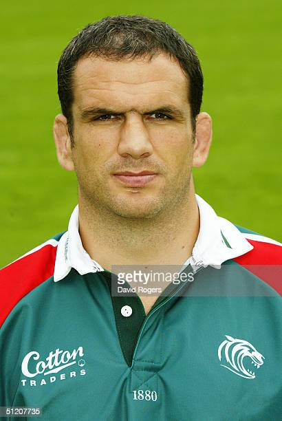 Martin Johnson pictured during the Leicester Tigers Squad Photocall on July 21 2004 at Welford Road Leicester England