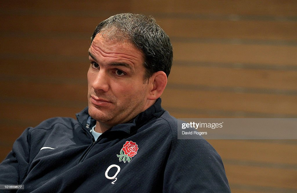 Martin Johnson, the England manager faces the media at a conference held at the Sheraton Hotel on June 6, 2010 in Perth, Australia.