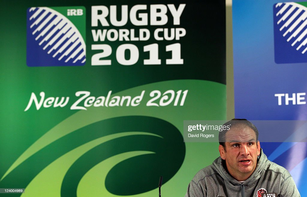 Martin Johnson, the England manager talks to the media during an England IRB Rugby World Cup 2011 team announcement at the Southern Cross Hotel on September 8, 2011 in Dunedin, New Zealand.