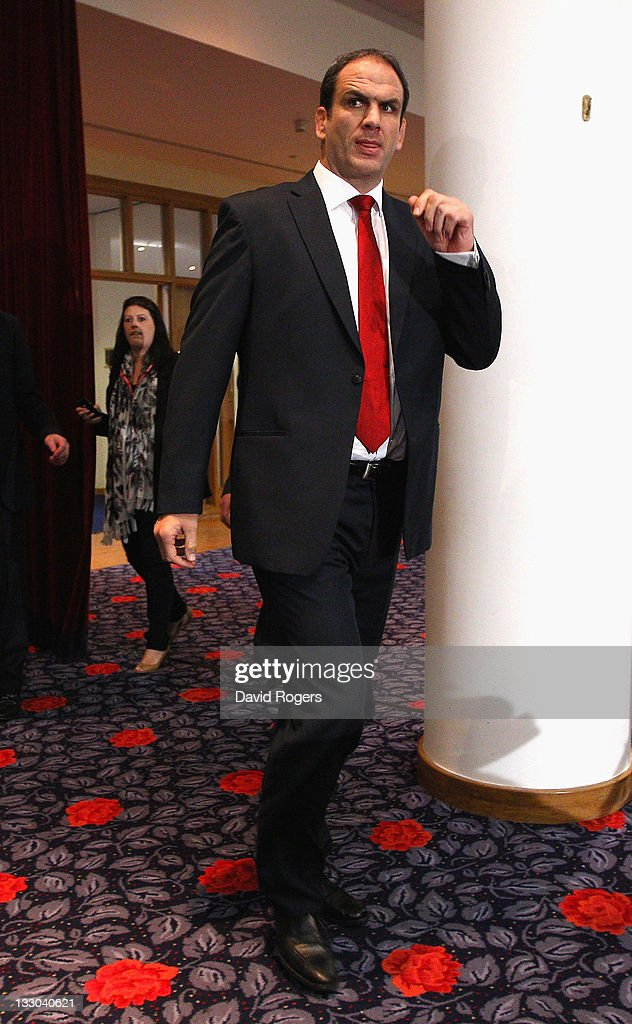 Martin Johnson, the England manager, walks into the press conference prior to announcing his resignation on November 16, 2011 in Twickenham, England.