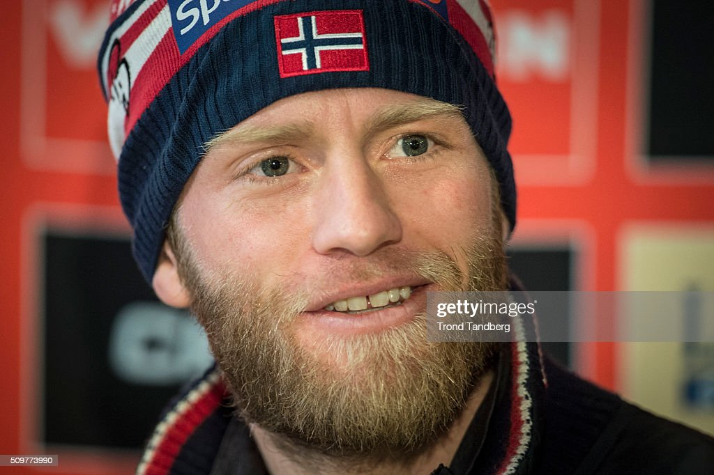 Martin Johnsrud Sundby of Norway during a press conference before Cross Country Men 10.0 km Classic on February 12, 2016 in Falun, Sweden.