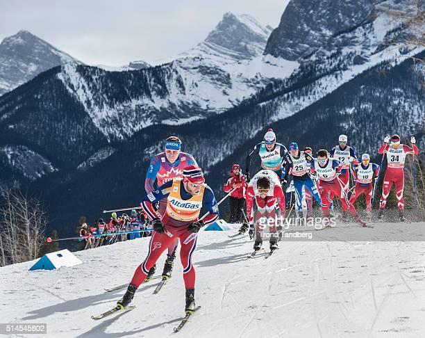 Martin Johnsrud Sundby Sergey Ustiugov Alex Harvey Finn Haagen Krogh Matti Heikkinen during Cross Country Men Skiathlon 15 km Classic 15 km Free on...