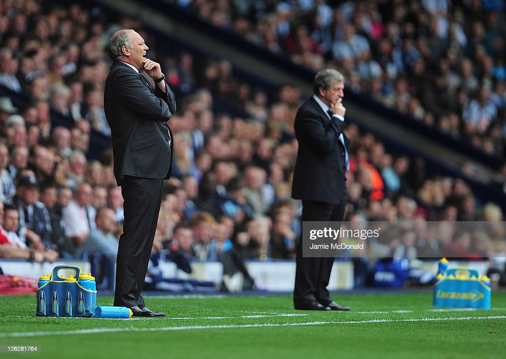 <a gi-track='captionPersonalityLinkClicked' href=/galleries/search?phrase=Martin+Jol&family=editorial&specificpeople=215368 ng-click='$event.stopPropagation()'>Martin Jol</a> (L) manager of Fulham reacts next to <a gi-track='captionPersonalityLinkClicked' href=/galleries/search?phrase=Roy+Hodgson&family=editorial&specificpeople=881703 ng-click='$event.stopPropagation()'>Roy Hodgson</a> manager of West Brom during the Barclays Premier League match between West Bromwich Albion and Fulham at the Hawthorns on September 24, 2011 in West Bromwich, England.