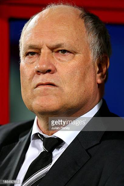 Martin Jol the Fulham manager looks on prior to kickoff during the Barclays Premier League match between Crystal Palace and Fulham at Selhurst Park...