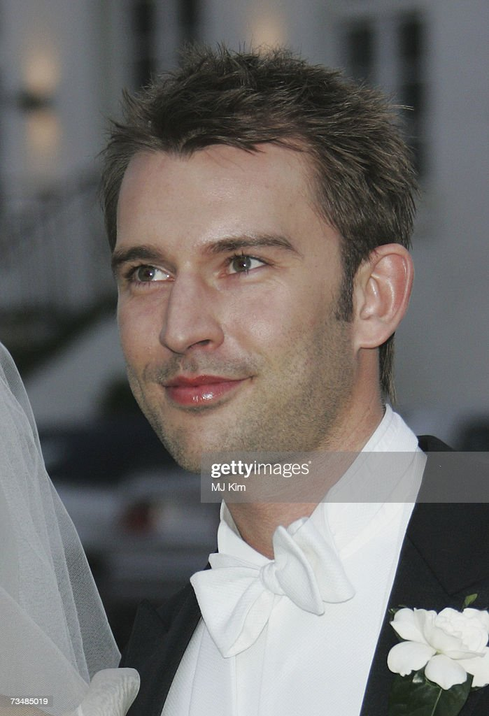 Martin Jorgensen poses after his wedding ceremony to Princess Alexandra Christina of Denmark at Oster Egende Church on March 03, 2007 in Fakse, Denmark.