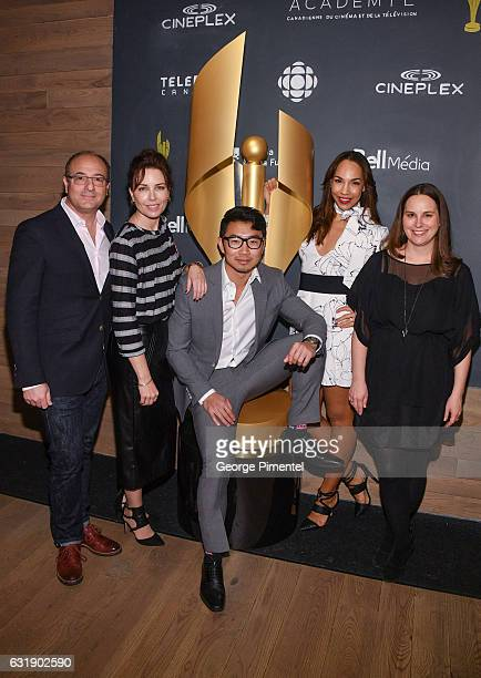 Martin Katz Chair Academy of Canadian Cinema Television actress Maxim Roy actor Simu Liu actress Amanda Brugel and Beth Janson CEO Academy of...