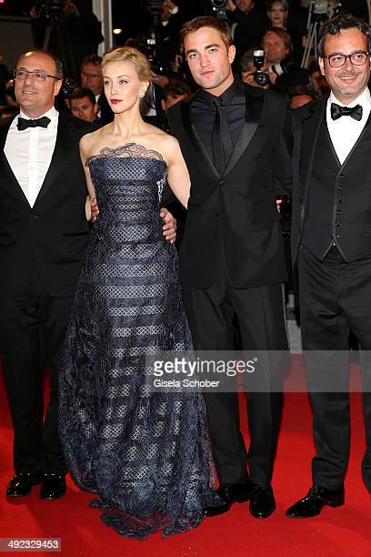 Martin Katz Sarah Gadon Robert Pattinson and Michel Merkt attend the 'Maps To The Stars' premiere during the 67th Annual Cannes Film Festival on May...