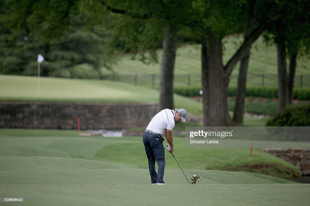 <a gi-track='captionPersonalityLinkClicked' href=/galleries/search?phrase=Martin+Kaymer&family=editorial&specificpeople=2143733 ng-click='$event.stopPropagation()'>Martin Kaymer</a> hits a shot on the fifth hole during the second round of the 2016 Wells Fargo Championship at Quail Hollow Club on May 6, 2016 in Charlotte, North Carolina.