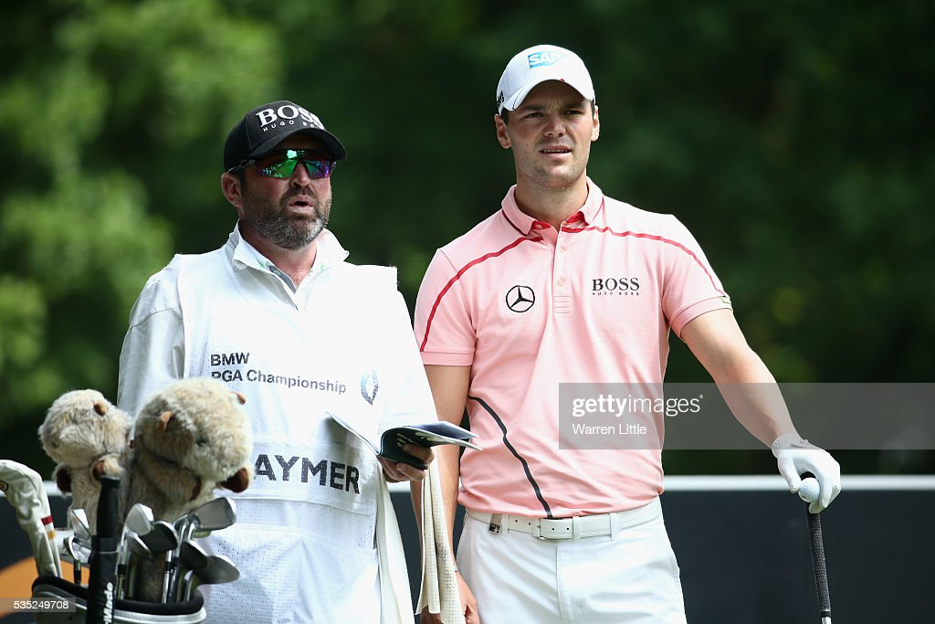<a gi-track='captionPersonalityLinkClicked' href=/galleries/search?phrase=Martin+Kaymer&family=editorial&specificpeople=2143733 ng-click='$event.stopPropagation()'>Martin Kaymer</a> of Germany and caddie <a gi-track='captionPersonalityLinkClicked' href=/galleries/search?phrase=Craig+Connelly&family=editorial&specificpeople=539485 ng-click='$event.stopPropagation()'>Craig Connelly</a> look down the 3rd hole during day four of the BMW PGA Championship at Wentworth on May 29, 2016 in Virginia Water, England.