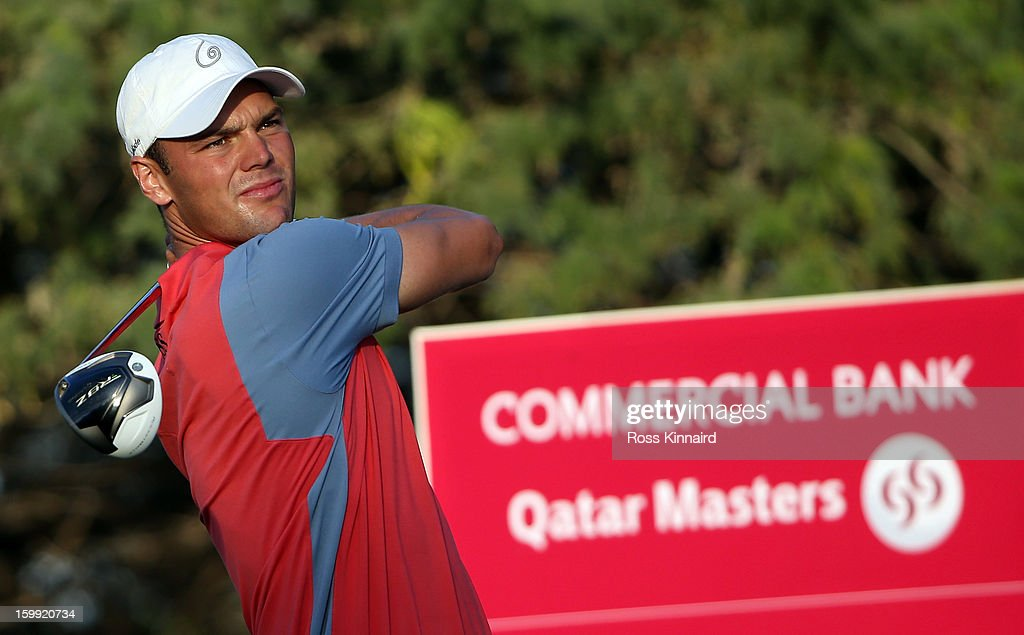 Martin Kaymer of Germany during the first round of the Commercial Bank Qatar Masters at The Doha Golf Club on January 23, 2013 in Doha, Qatar.