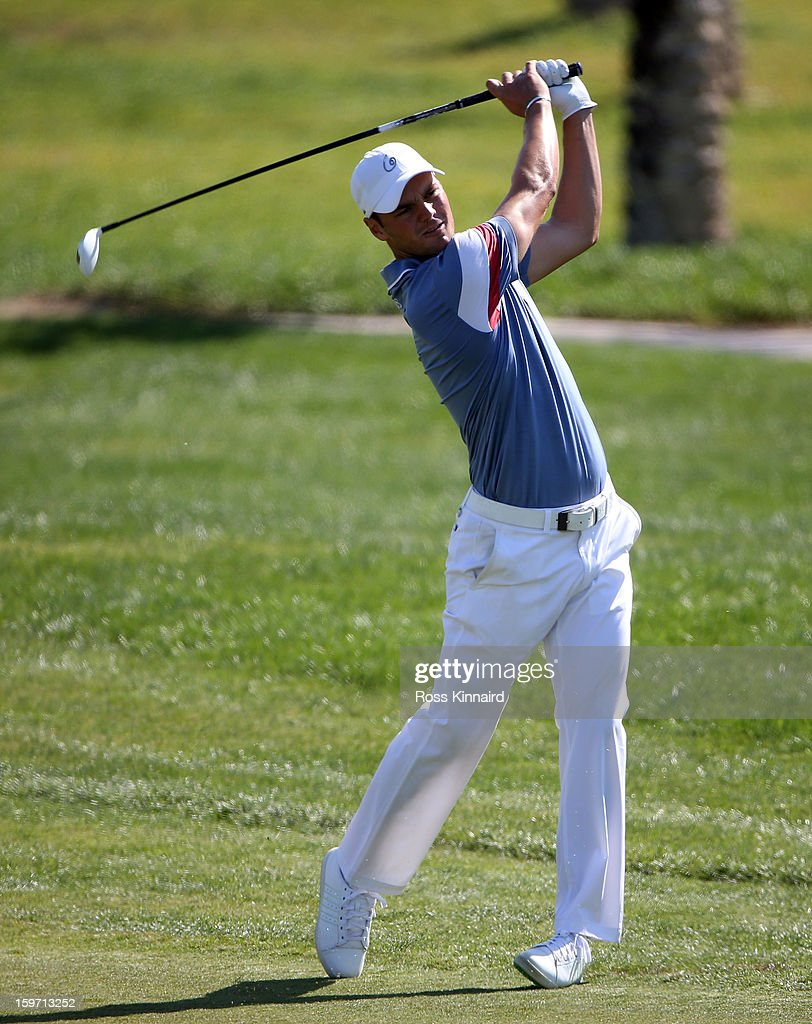 Martin Kaymer of Germany during the third round of the Abu Dhabi HSBC Golf Championship at the Abu Dhabi Golf Club on January 19, 2013 in Abu Dhabi, United Arab Emirates.