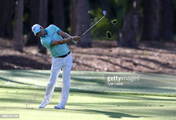 Martin Kaymer of Germany hits a shot on the 12th hole during the first round of the 2017 RBC Heritage at Harbour Town Golf Links on April 13 2017 in...