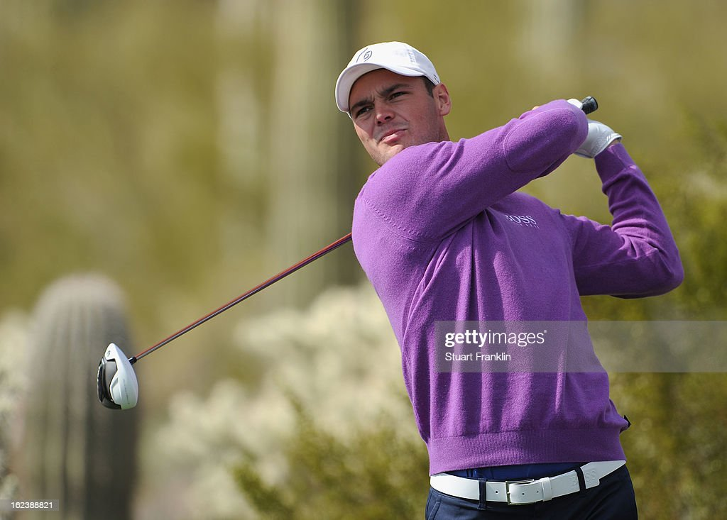 Martin Kaymer of Germany hits a shot on the 17th hole during the second round of the World Golf Championships - Accenture Match Play at the Golf Club at Dove Mountain on February 22, 2013 in Marana, Arizona.
