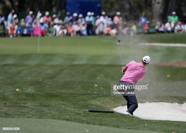Martin Kaymer of Germany hits a shot on the fifth hole during the second round of the 2017 RBC Heritage at Harbour Town Golf Links on April 14 2017...